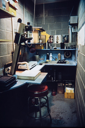 My favorite darkroom of all time. I designed and built it in about 1978. It was tiny but worked great.
