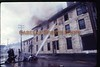 Another image from some 35mm color slides we came across of the Kenwood Hotel Fire which occurred in the summer of 1976.  The Kenwood Hotel used to reside on the corner of 3rd Avenue & 5th Street in New Brighton.  This image was taken by my father from the 5th Street side of the structure.