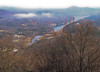 View of Lake Lure from the top of Chimney Rock