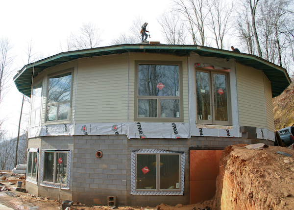 Front windows.  Main entry door will be around the right side