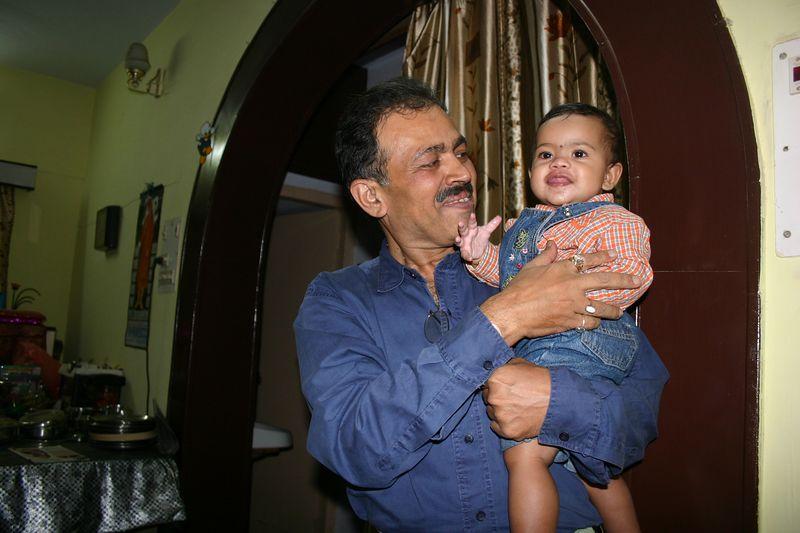 Ayushi with my Uncle Mr Uday Shahane