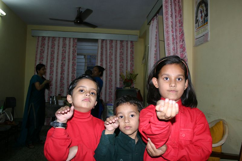 Aniket, Saksham and Ananya
