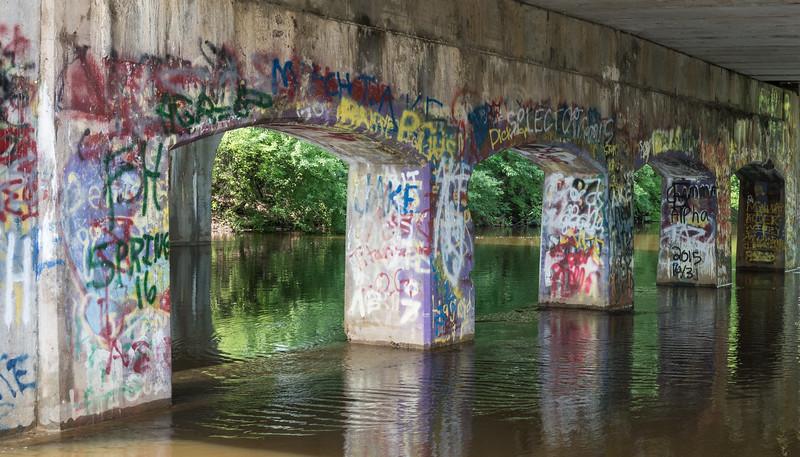 Graffati --- Under the Bridge Cedar River