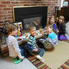 Kids Eating on the Hearth