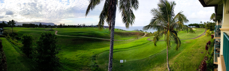Pano from our room at the Westin in Princeville, Kauai.