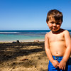 My little beach boy at Ke'e.