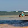 Everyone enjoying Anini beach.