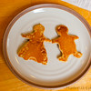 Lina got all creative and made boy and girl pancakes for Kai and Izzie.