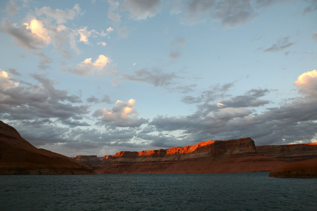 Sunset Rock Creek Bay-Lake Powell