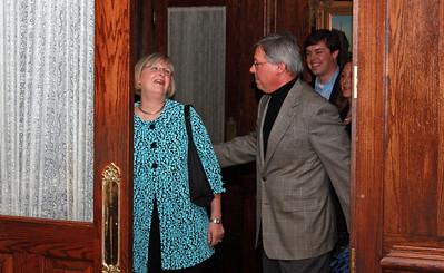 Birthday Girl,Trish, was surprised by husband, Bryce.