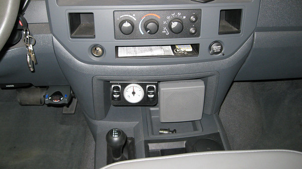 Setting with 85 lbs after leak check and reassembly of the dash. I also mounted the speaker while I had the dash apart.