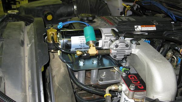 Compressor for exhaust brake