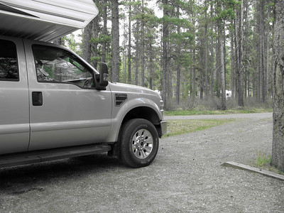truckcamper Canadian Rockies