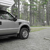 Whistlers campground at Jasper in our Ford F-350<br /> Lariat 6.7 ltr V8 twin turbo diesel 360bhp Adventura truck camper