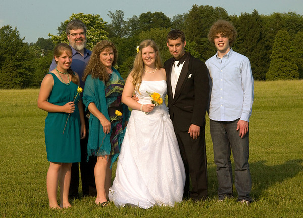 (Crop of previous) Our family with the newlyweds