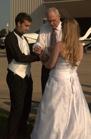 Practicing tying the knot