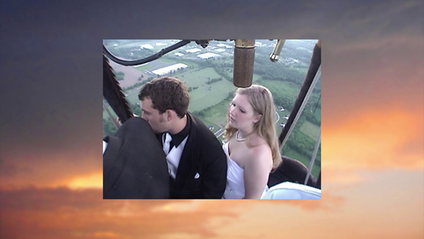 """Balloon Landing"" - Video made by Rob Yoder, about the landing of the hot air balloon that will carry our daughter Trudy & fiance Bryan up in the air for their wedding! Music is ""The Crysanthemum"" by Scott Joplin, played here by Rob & me."