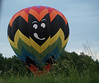 Trudy & Bryan's Wedding - Balloon Landing (by Anna Lisa) : Later on-- the now-married couple lands in a field