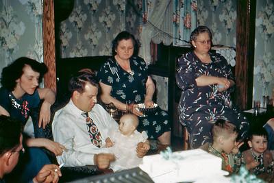 1950, Mom, Dad, Judi, Busha, Mrs