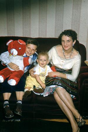1955 Larry, John, Mom