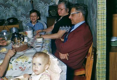 1956, John, Busha, Jaja, Judi's Birthday