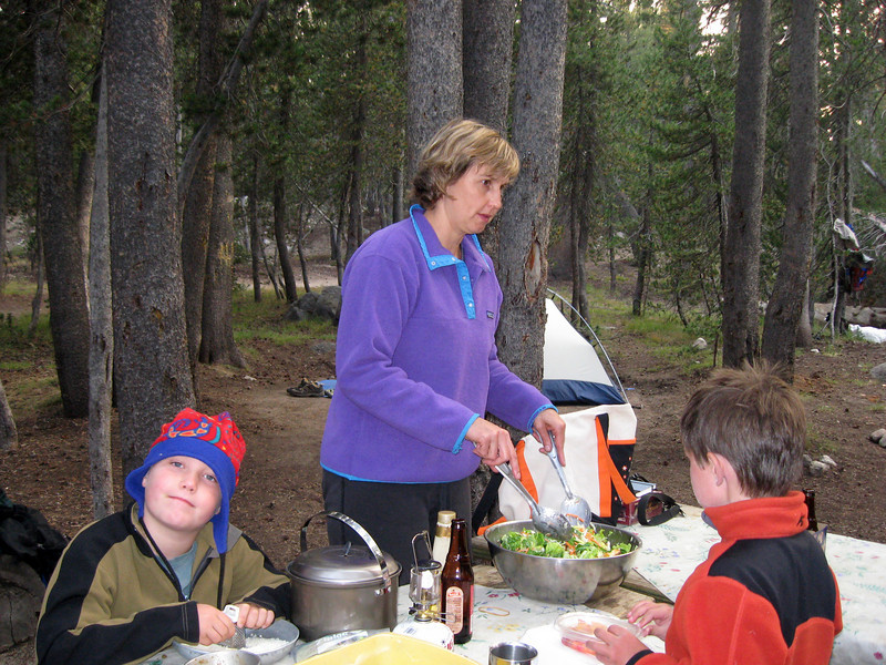 Fixing dinner at Tuolumne Meadows, Aug 30-31