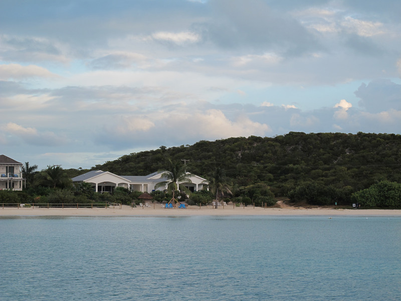 View of our villa on Sapodilla Bay.