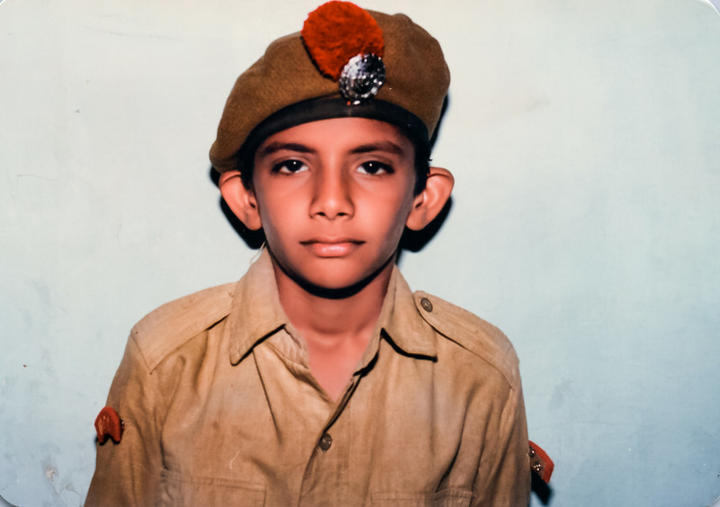 In NCC (National Cadet Corps) Uniform
