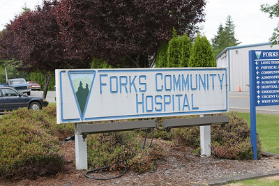 This is the Forks Hospital where Carlisle, Edward's father and one of the vampires, works as a doctor.  That's right a vampire who is a doctor.