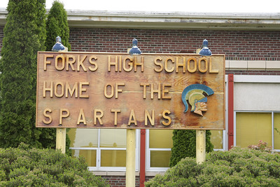 "Forks High School.  Where the main characters of the ""Twilight"" series, Bella and Edward meet and fall in love."