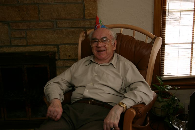 Great Grandpa enjoying the party.