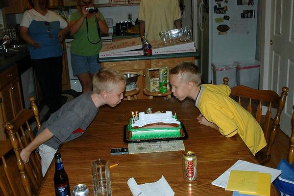 Twins 8th Birthday 8-27-05