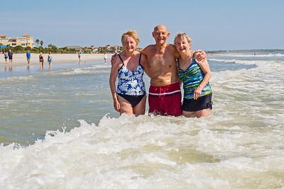 Enjoying the Atlantic surf on Florida's coast