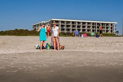 On the beach at Adams' Condo