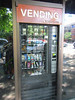 Hilarious vending machine outside University Bikes in Boulder, CO.  Energy bars, and tubes, and the like for your next ride.