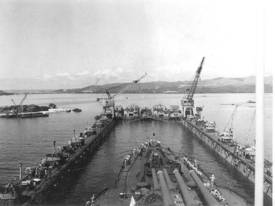 dry-dock in Guam.