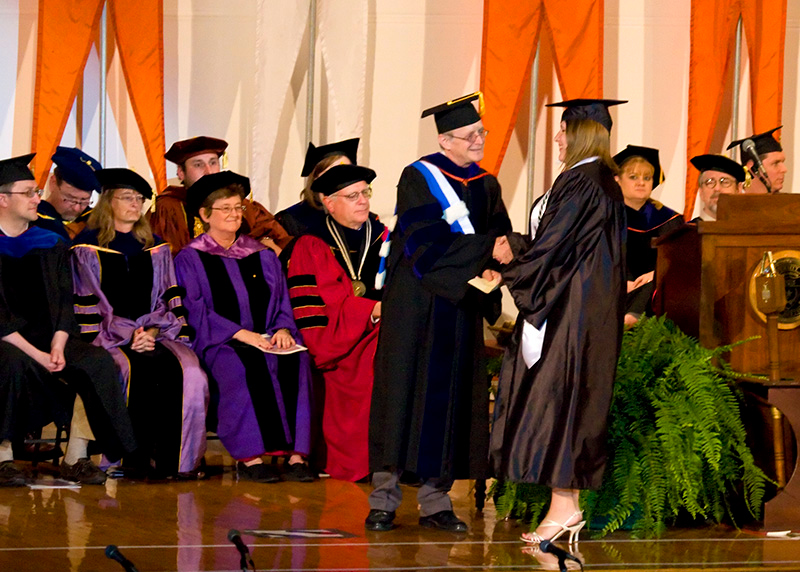 Heather graduating from the University of Texas at Austin