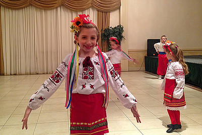 Julianna at Mother's Day Ukrainian Dance Festival