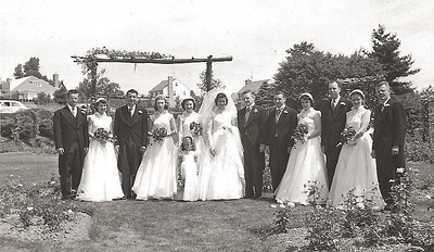 bob rose garden wedding party 1952