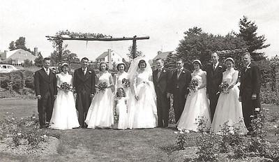 bob rose garden wedding party 1952