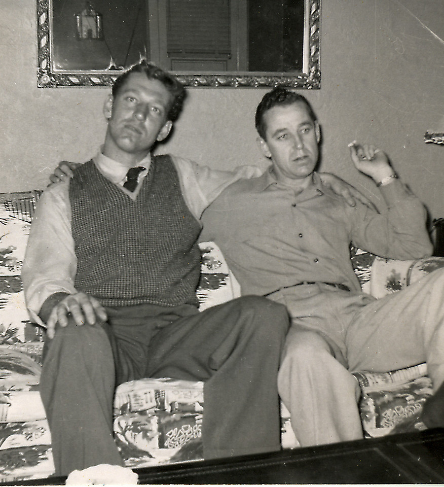Elwood and his brother Sanford, Nov. 1954