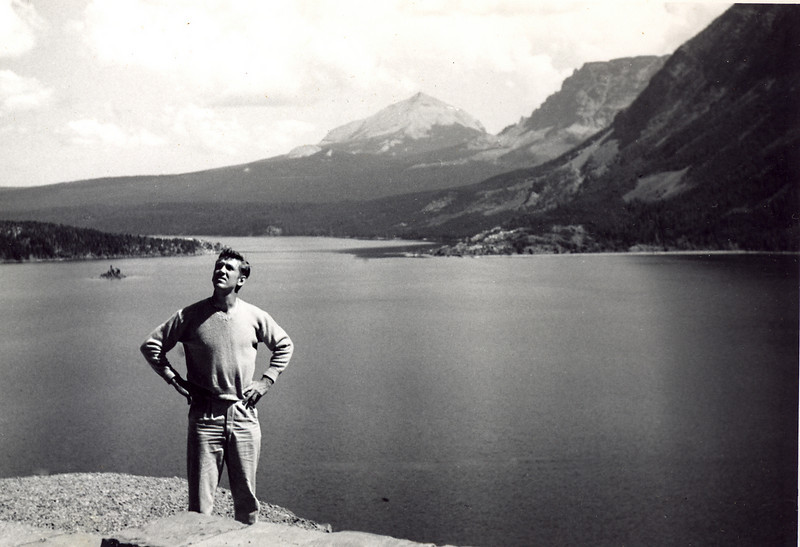 Elwood at Lake Louise, Alberta, Canada, 1952.