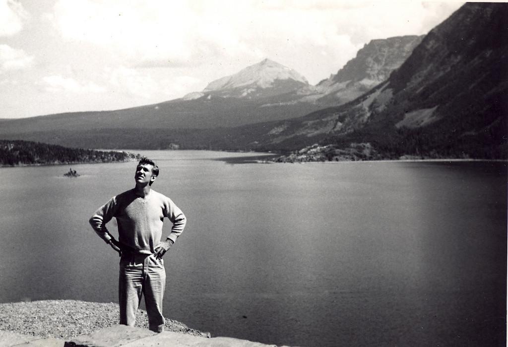 Elwood at Lake Louise, Alberta, Canada, 1952.