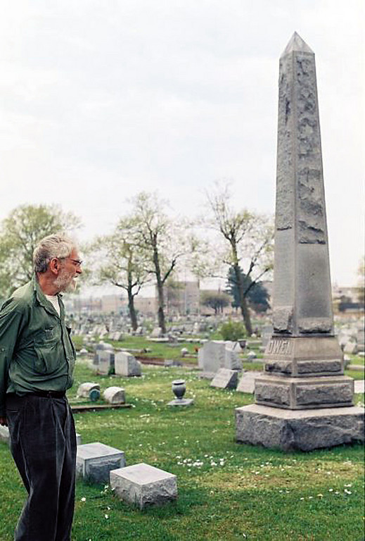 """Elwood in a Portsmouth, VA cemetery, from the movie """"Elwood Carlisle Superstar"""""""