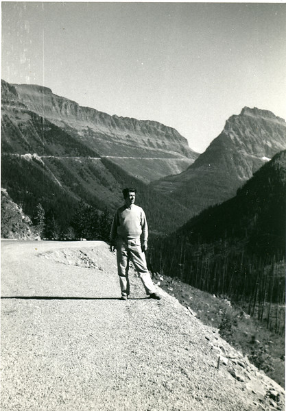 Elwood in Glacier National Park, Montana, 1952