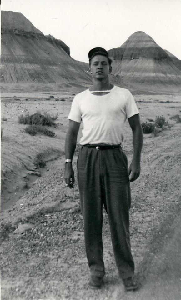Elwood Carlisle in Arizona 1949