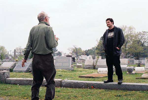 Elwood filming in the cemetery in Portsmouth, VA