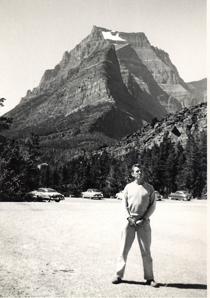 Elwood at Glacier National Park, Montana, 1952
