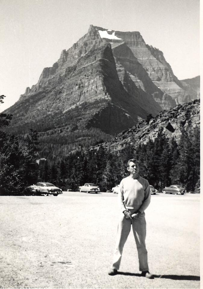 Elwood at Glacier National Park, Montana, 1952