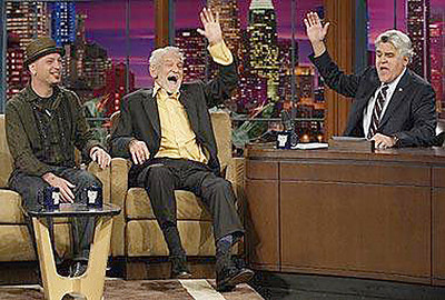"Uncle Elwood on ""The Tonight Show"" with Jay Leno and Howie Mandell"